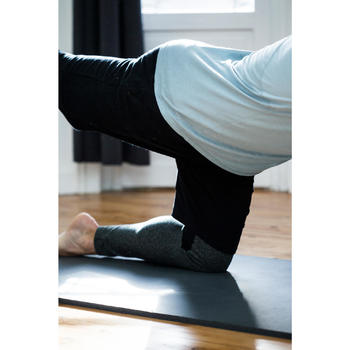 Short 560 slim fit tot boven de knie pilates en lichte gym heren lichtgrijs