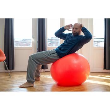 Herenbroek 500 voor gym en stretching regular fit met rits zwart