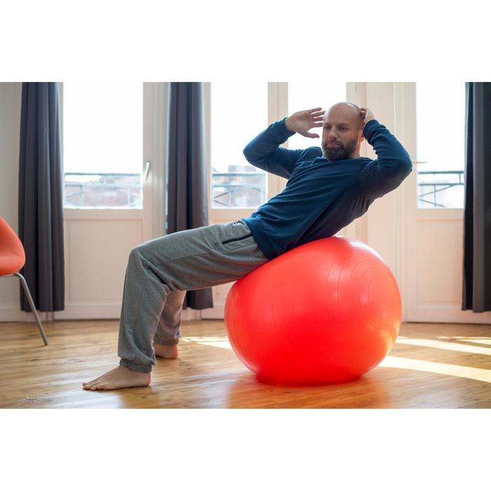 Pantalon 500 regular zip Gym Stretching noir homme - 1316410