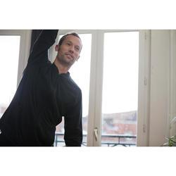 Herenbroek voor zachte gym en pilates 100 Regular zwart