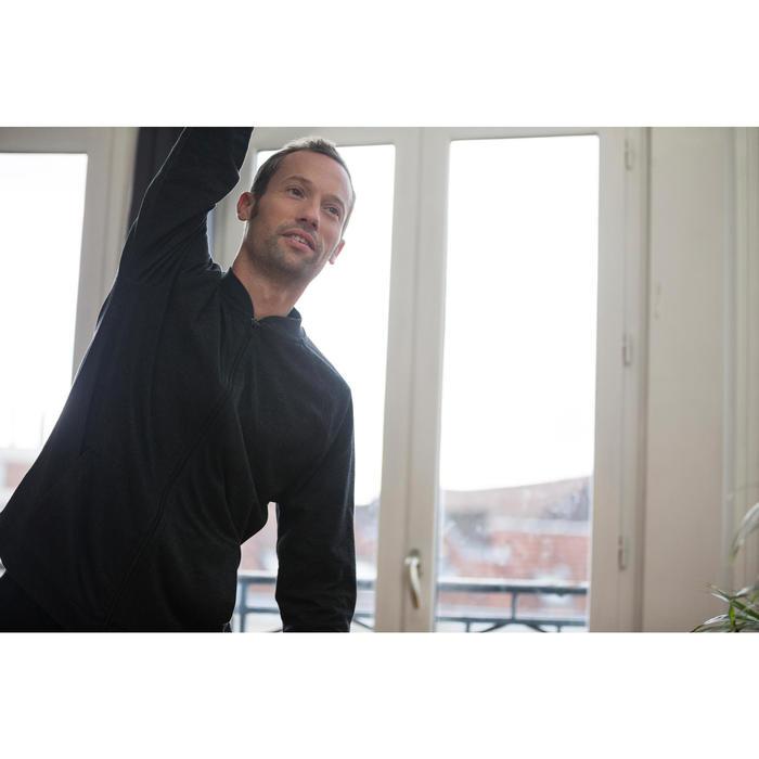 Pantalon 100 regular Pilates Gym douce noir homme