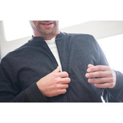 Veste zippée homme 100 grise