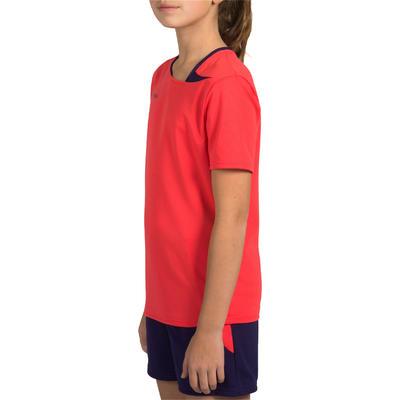 Maillot de handball enfant H100 rose / violet
