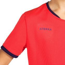 Handbalshirt voor kinderen H100 roze / paars