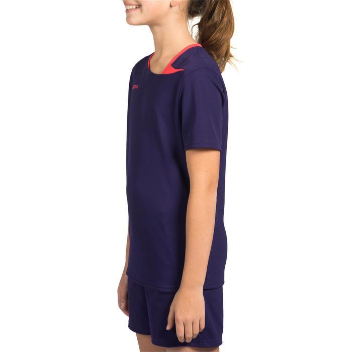 Handbalshirt meisjes H100 paars/roze