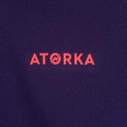 Camiseta de Balonmano Atorka H100 Niños Violeta