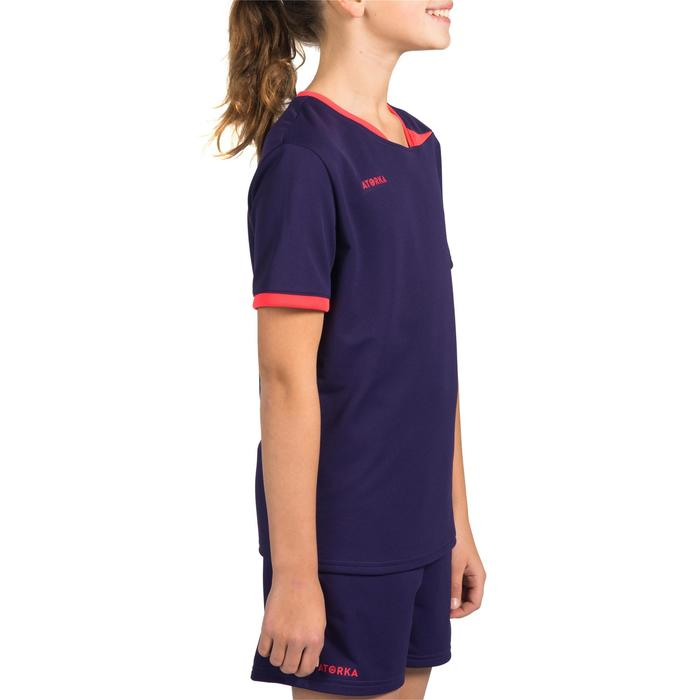 Maillot de handball enfant H100 violet/rose