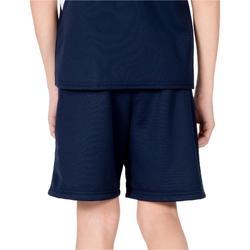Short de balonmano H100 niño azul marino y verde