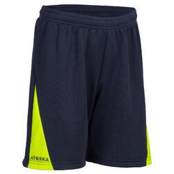 Handbalshort voor jongens H100 marineblauw en groen