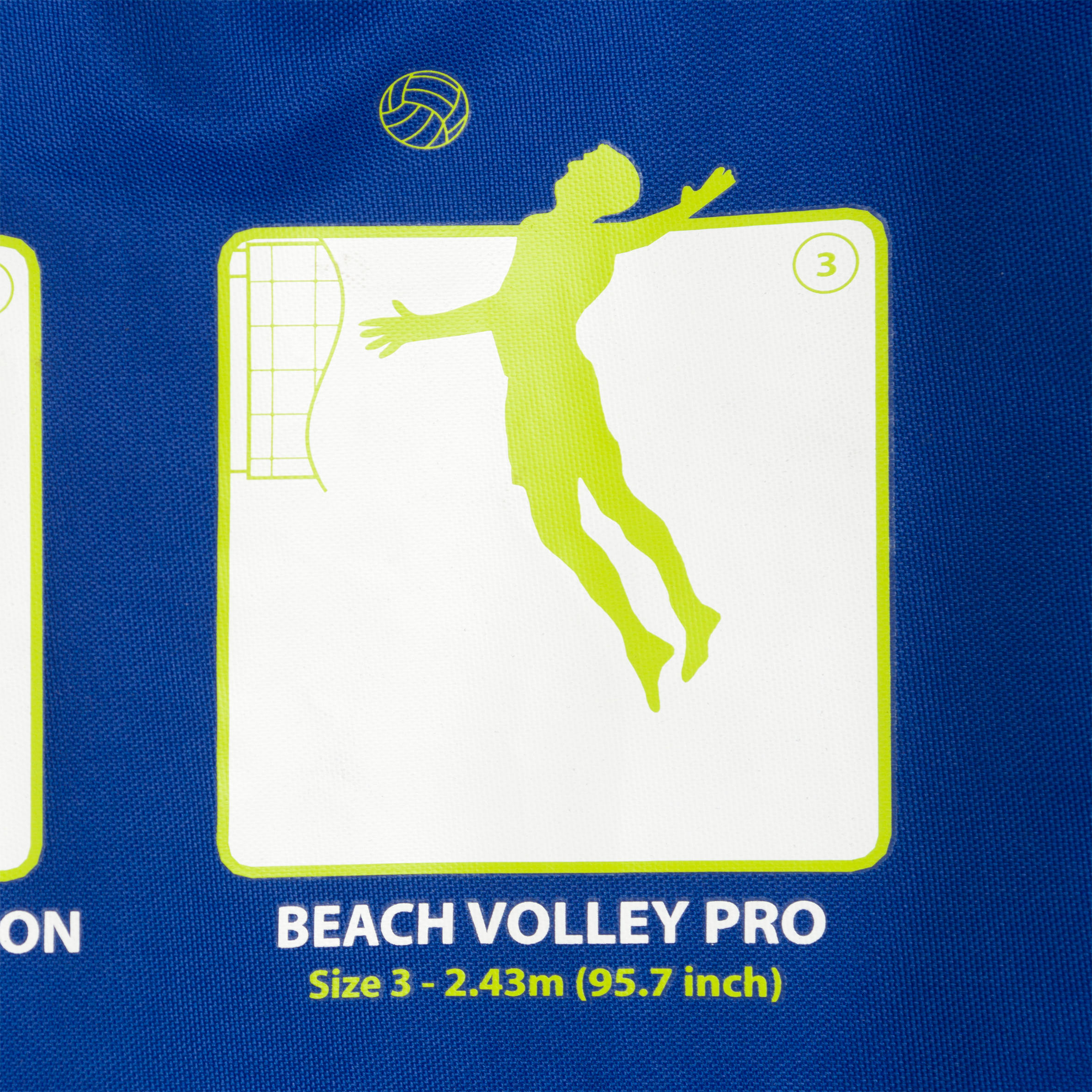 Filet de volleyball de plage VP 500 bleu