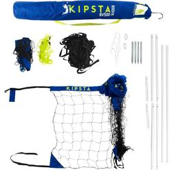 Beachvolleyballnetz Set BV500 blau