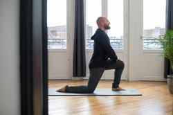 Herenhoodie met rits 500 voor gym en stretching zwart