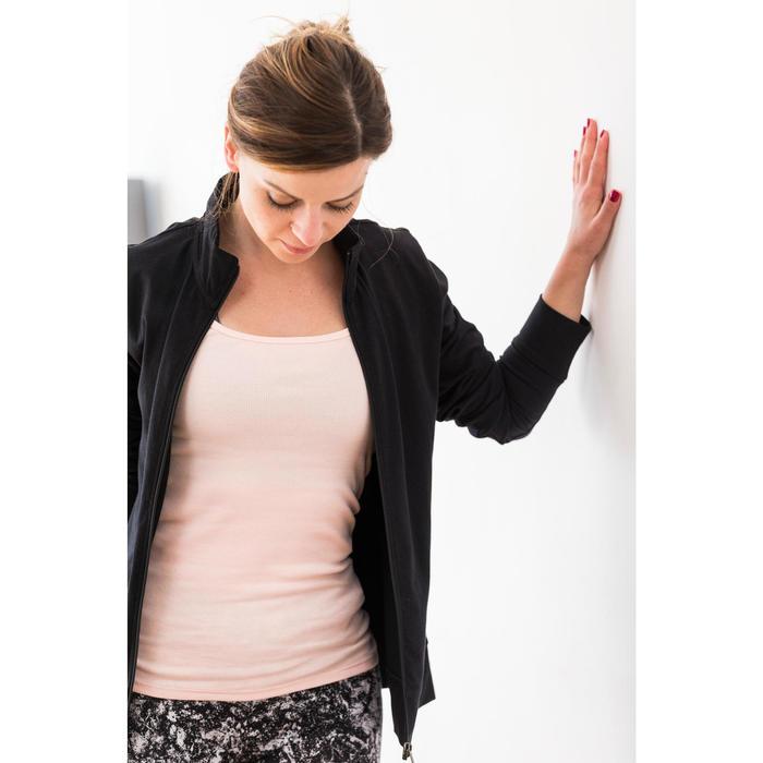 Leggings Slim Fit+ 500 Gym & Pilates Damen mit Sandrosenprint