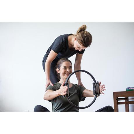 900 women 39 s regular fit gym pilates leggings black for Gimnasio cardio pilates