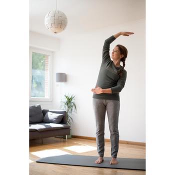 Damesbroek 500 voor gym en stretching slim fit zwart