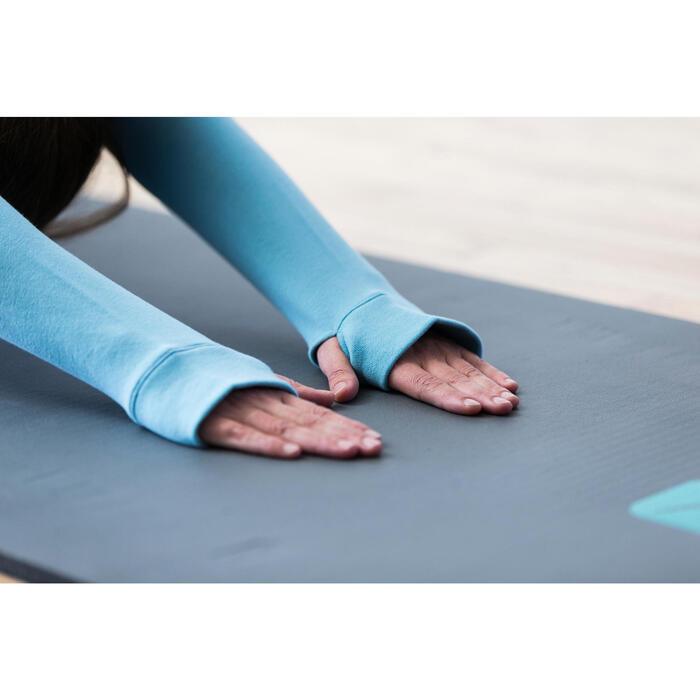 Sweat-shirt 900 Gym & Pilates Femme capuche bleu glacier - 1316572