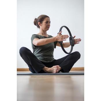 Mallas Leggings Deportivos Gimnasia Pilates Domyos 900 Regular Mujer Negro