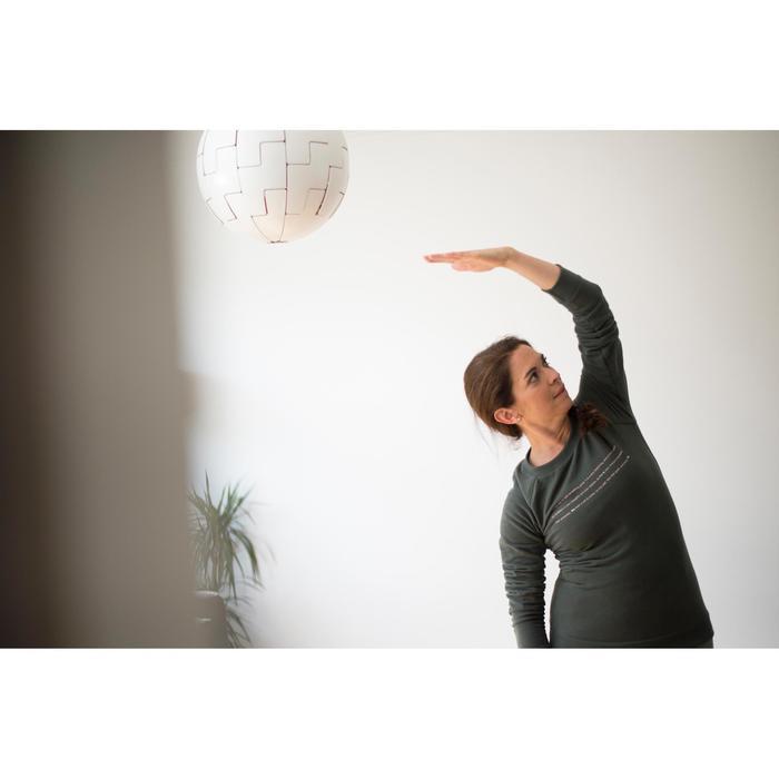 Sudadera Chándal Gimnasia Pilates Domyos 500 Mujer Gris Claro