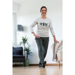 Sweat 500 Pilates Gym douce femme rose clair