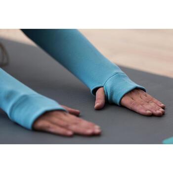 Sweat-shirt 900 Gym & Pilates Femme capuche bleu glacier - 1316594
