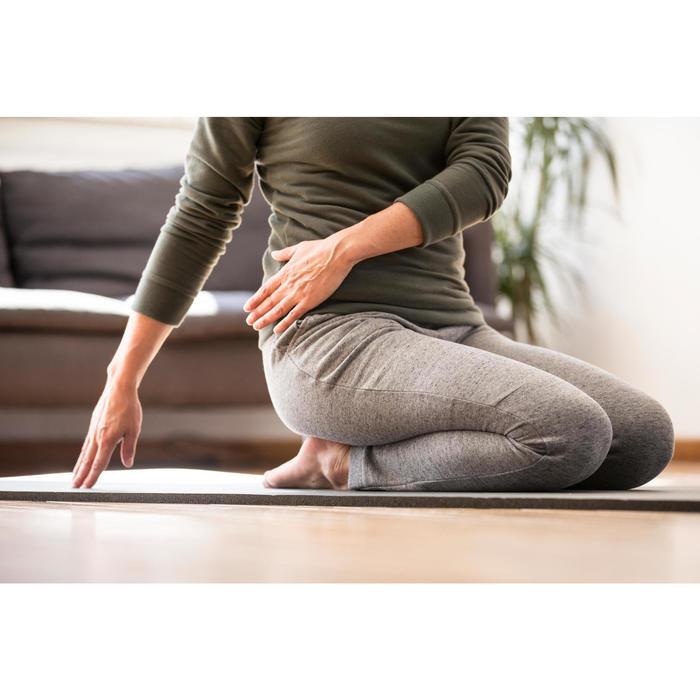 Pantalon 500 slim Gym Stretching femme noir