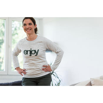 Sweat-shirt 100 Gym & Pilates Femme - 1316616