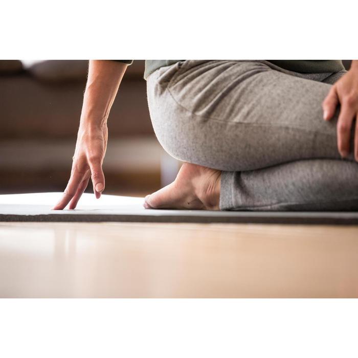 Damesbroek 900 voor gym en pilates gemêleerd grijs met spikkels