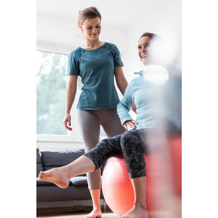 Sweat-shirt 900 Gym & Pilates Femme capuche bleu glacier - 1316620