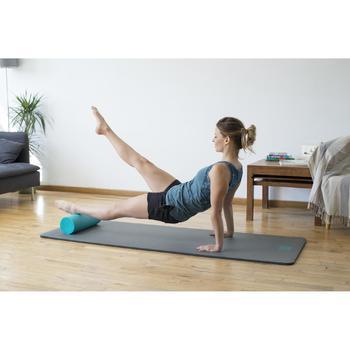 Damesshort 520 voor gym en pilates gemêleerd lichtgrijs
