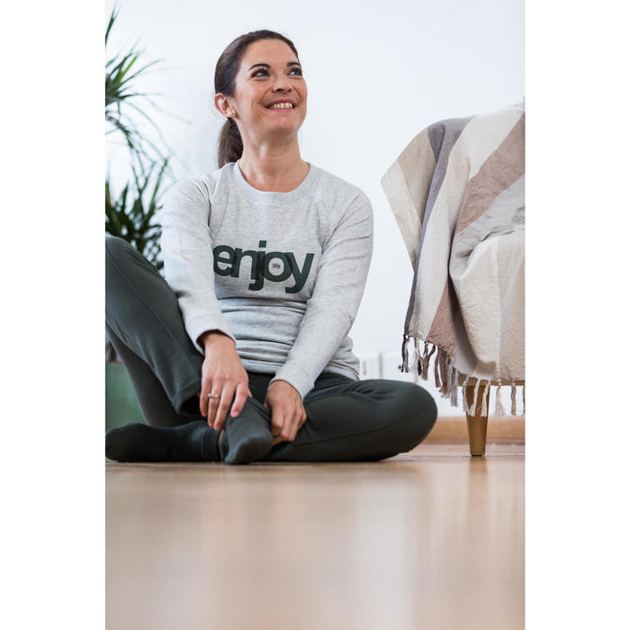 Sweat-shirt 100 Gym & Pilates Femme - 1316635