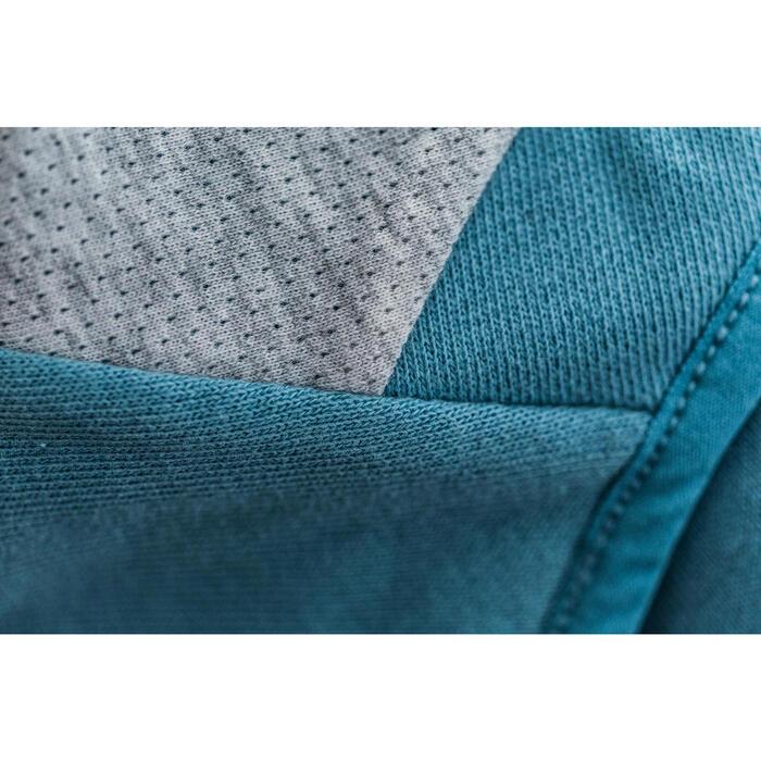 Sweat-shirt 900 Gym & Pilates Femme capuche bleu glacier - 1316637