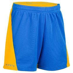 V100 volleybalshort jongens blauw en geel