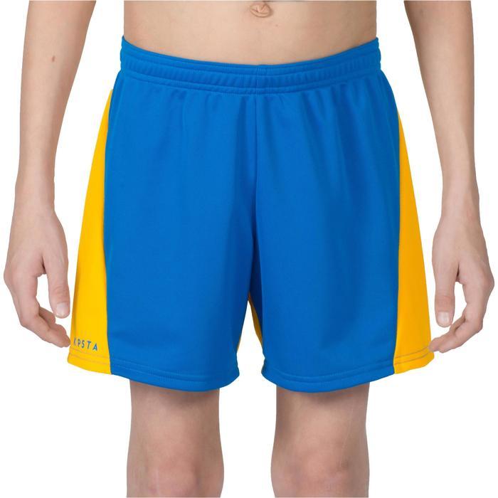 Pantalón corto V100 de voleibol niño Azul y Amarillo