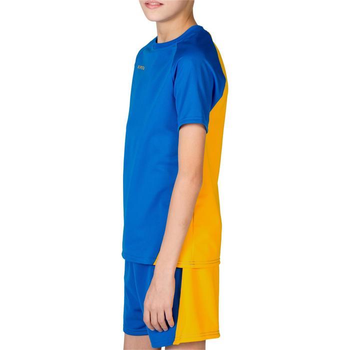 Maillot de volley-ball garçon V100 bleu et - 1316664