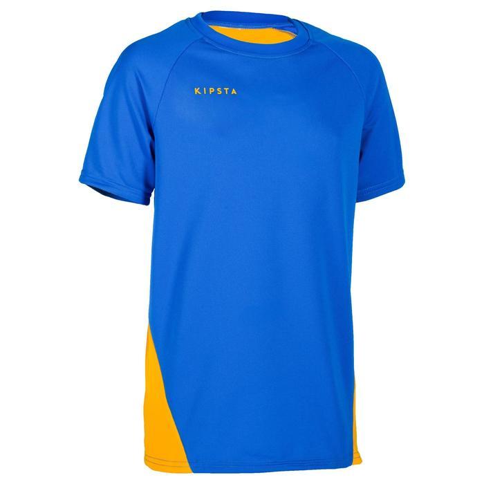 Maillot de volley-ball garçon V100 bleu et - 1316666