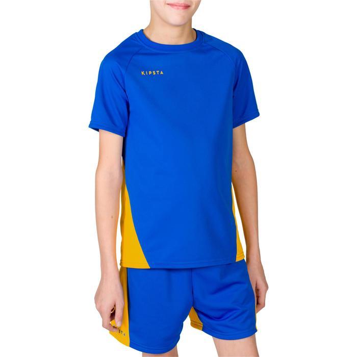 Maillot de volley-ball garçon V100 bleu et - 1316669