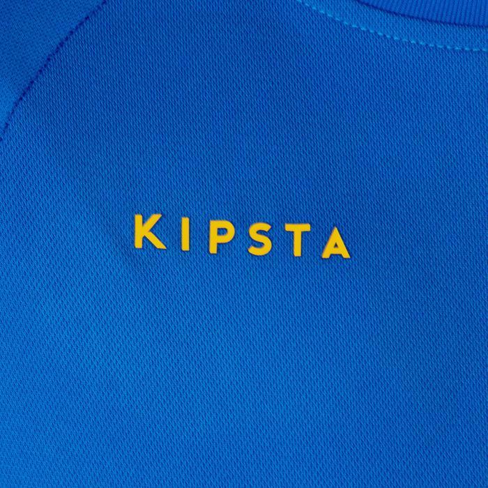 V100 volleybalshirt jongens blauw en geel
