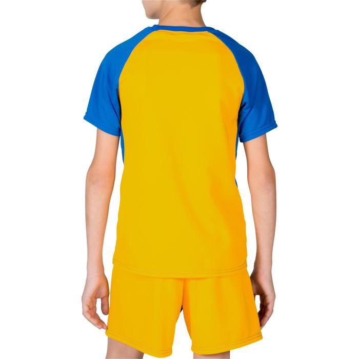 Volleyballtrikot V100 Kinder blau/gelb