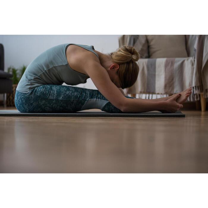 Legging 7/8 520 Gym & Pilates femme bleu grisé chiné - 1316743