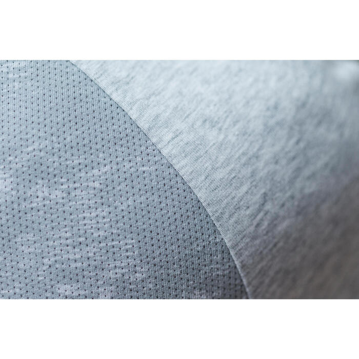 T-Shirt 520 manches courtes Gym & Pilates femme gris chiné clair - 1316757