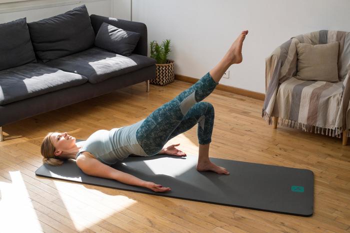 Legging 7/8 520 Gym & Pilates femme gris chiné - 1316758