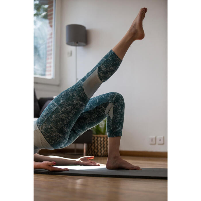 Legging 7/8 520 Gym & Pilates femme gris chiné - 1316764