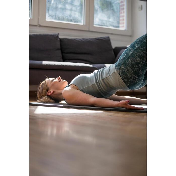 Legging 7/8 520 Gym & Pilates femme gris chiné - 1316774