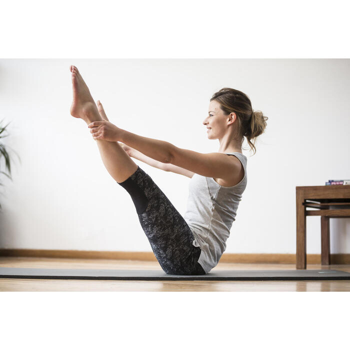 Débardeur 520 Gym & Pilates femme gris chiné clair