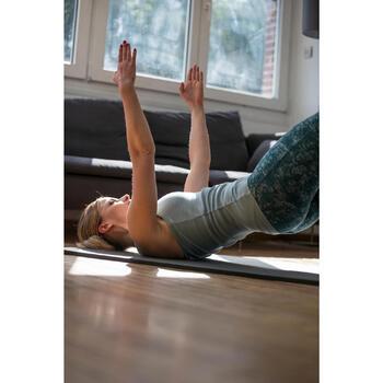 Legging 7/8 520 Gym & Pilates femme imprimé gris noir