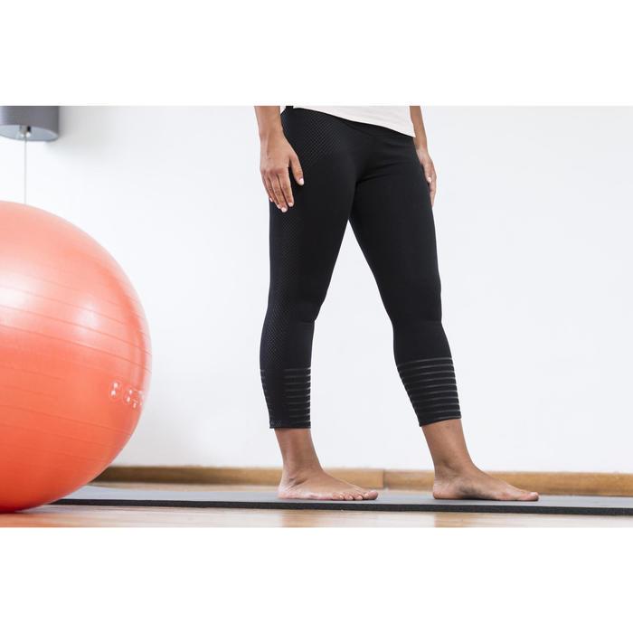 Leggings 7/8 slim de gimnasia y pilates mujer negro