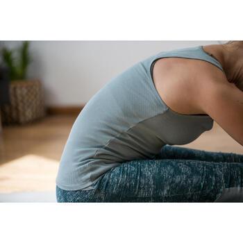 Legging 7/8 520 Gym & Pilates femme gris chiné - 1316855