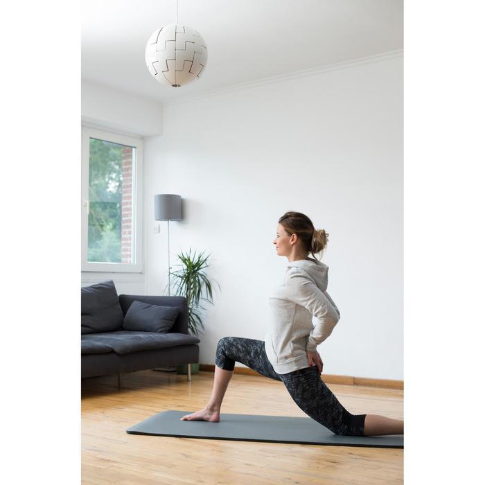 Sweat capuche Gym & Pilates femme chiné foncé - 1316856
