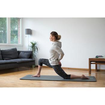 Sweat -shirt 520 Gym & Pilates Femme capuche gris chiné clair printé - 1316857