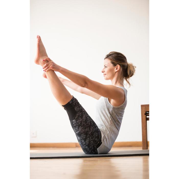 Débardeur 520 Gym & Pilates femme gris chiné clair - 1316864